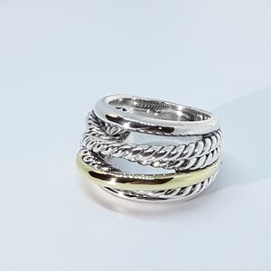 DAVID YURMAN CROSSOVER RING WITH GOLD